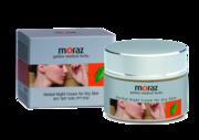 Натуральный ночной крем для сухой кожи лица Moraz Herbal Night Cream